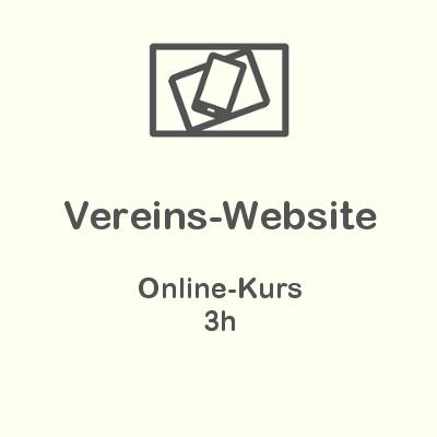 Vereins-Website Online-Kurs