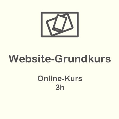 Website-Grundkurs Online-Kurs
