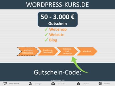 WordPress-Kurs-Gutschein variable